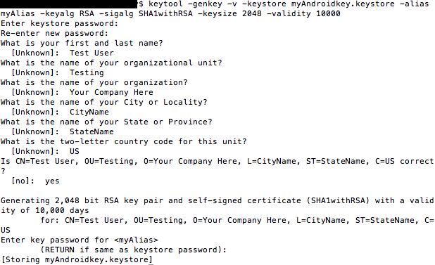 2 - Creating a Keystore - GameSalad Customer Service