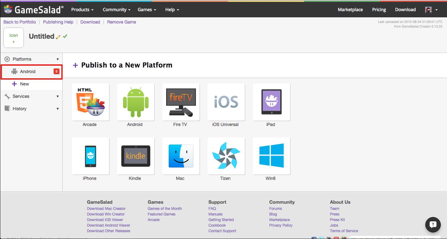 Gamesalad custom collider - Androidplatformleft