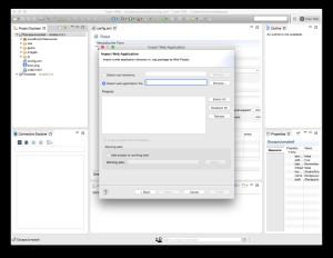 Tizen Web App Import Dialog 2
