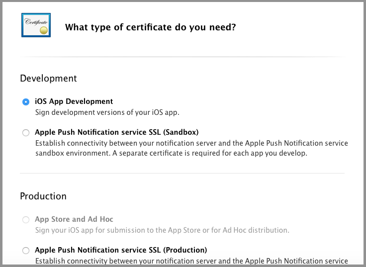 1 Developer App Store And Ad Hoc Certificates Csr Gamesalad