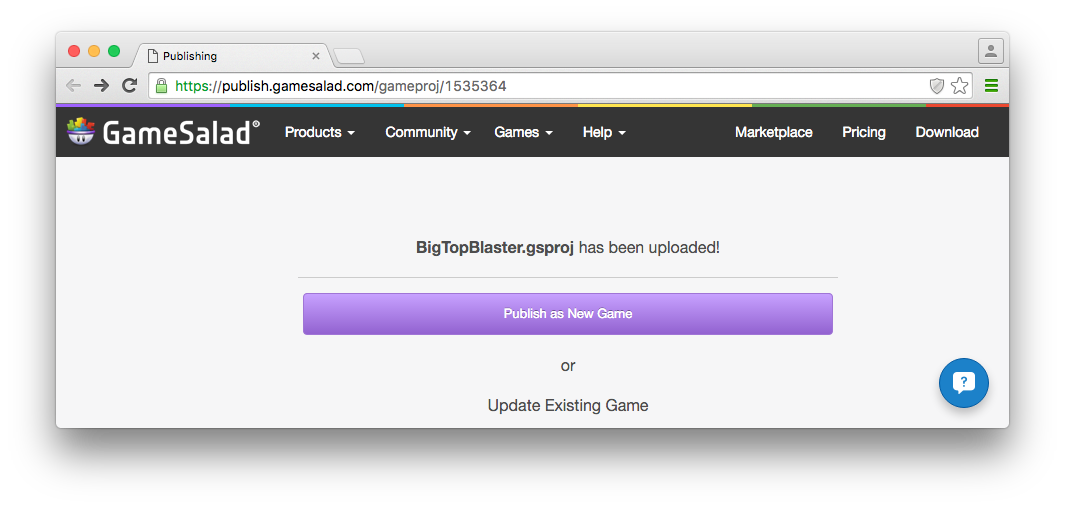 2  Publish to HTML5 - GameSalad Customer Service